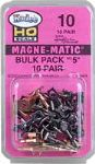 Kadee 10 - HO Scale No.5 Bulk Pack Magne-Matic Couplers (10pr)